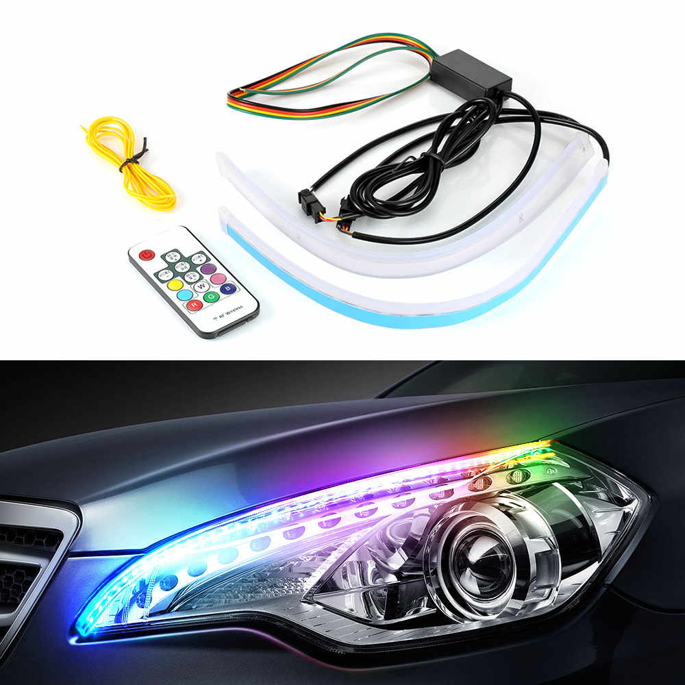 Ambient Light 30CM 45CM 60CM RGB Car Led Accessories Decorative Lamp as Turn Signal Lamp and DRL Light Strip