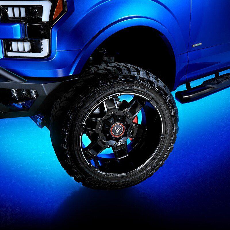 Car RGB Led Underglow Flexible Strip By Remote Control Underbody Decorative Atmosphere Lamp Use to Car Wheel Eyebrow