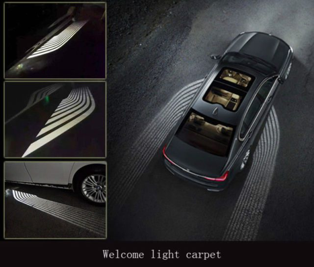 Multicolor Car Led Angel Wing Logo Projecter Ghost Shadow Laser Light for Car Motorcycle