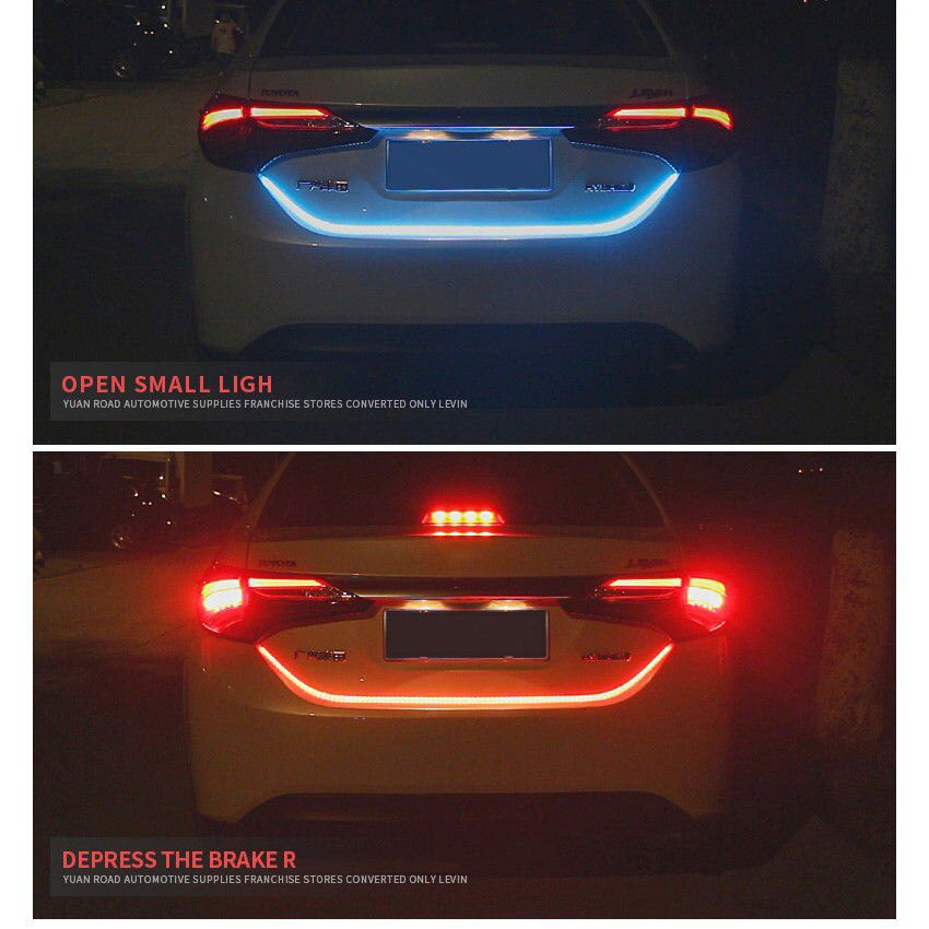 Flexible 120CM Car Decorative Led Lamp Tailgate Lamp DRL Light Strip with Streaming Turning Signal Brack Signal