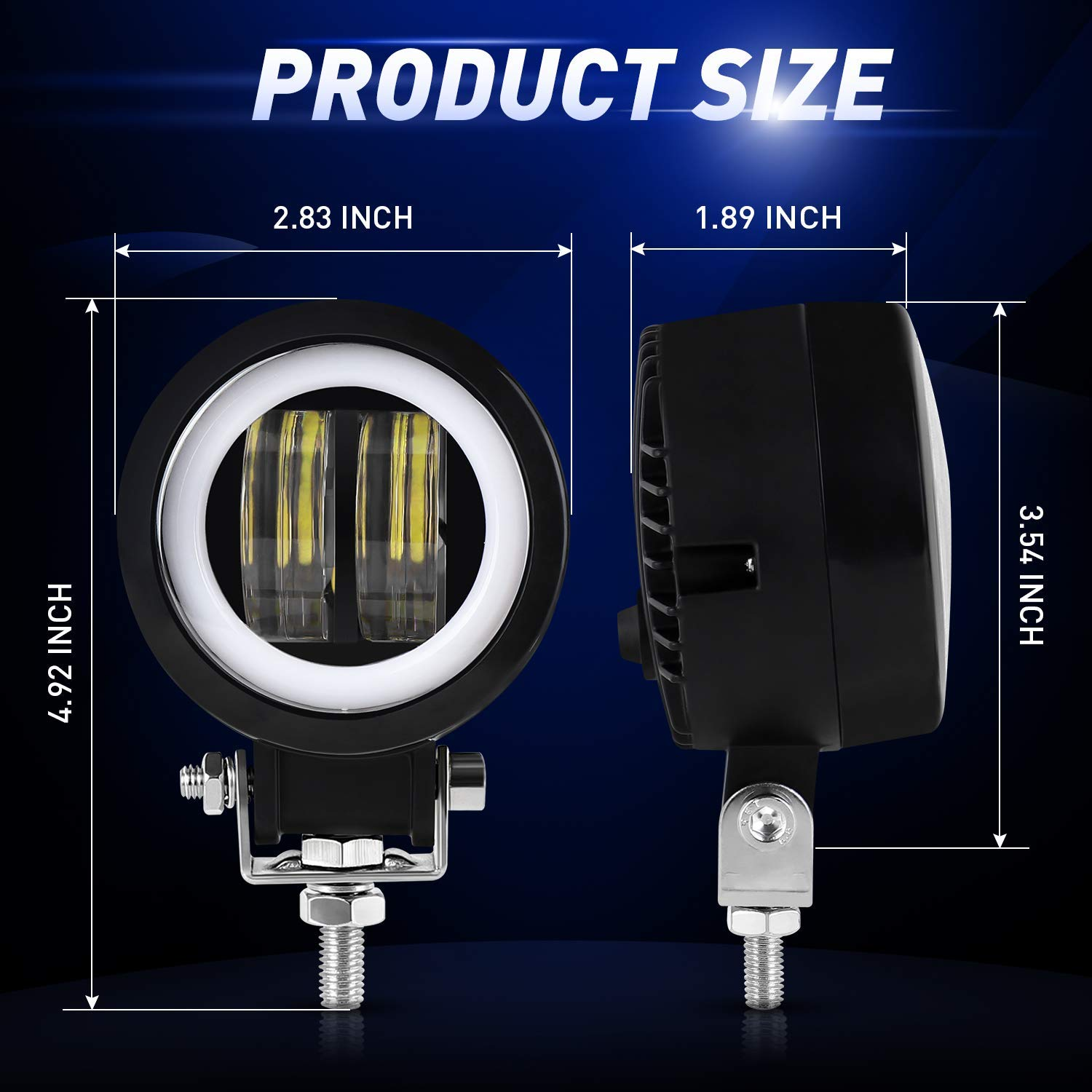 3 Inch 40w Round IP68 Waterproof Motorcycle Led Fog Light Kit with DRL for Motorbike Auxiliary Turn Signal