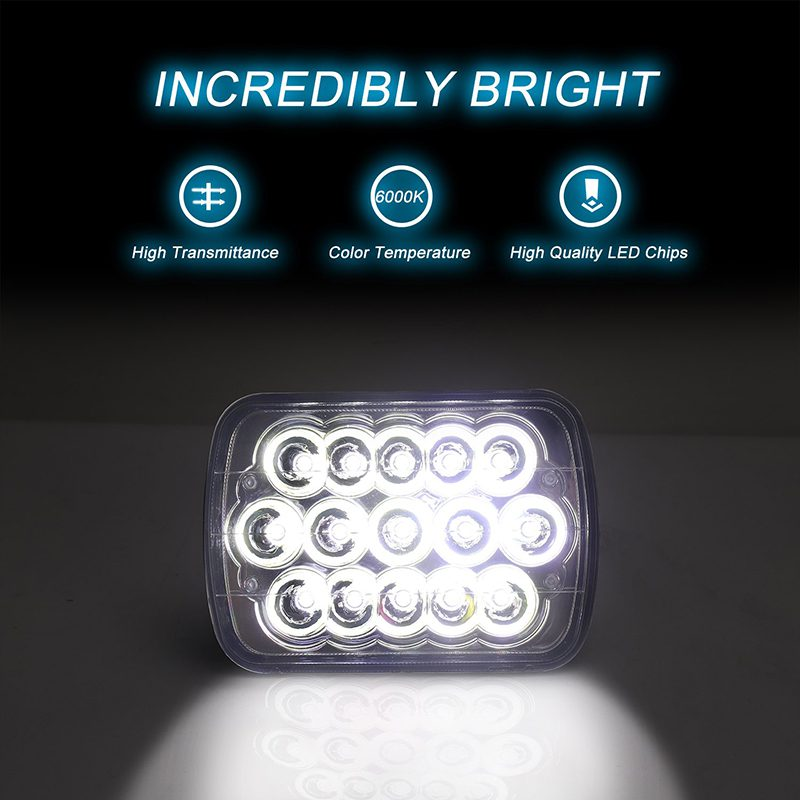 Brightest 5x7 7x6 h6054 h4651 h5001 h4656 h6054 Rectangular Sealed Beam 45W H4 Led Headlight for Truck Offroad