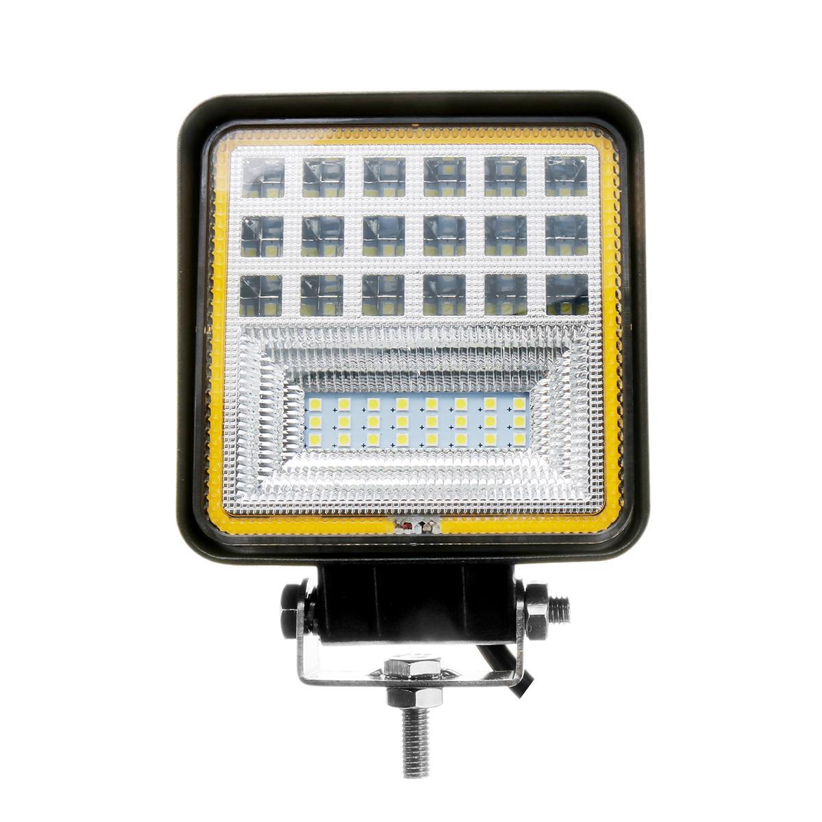 Rectangle 48W IP67 Led Work Light wtih Amber DRL Support Flood and Spot Beam for 4x4 Offroad Truck SUV ATV